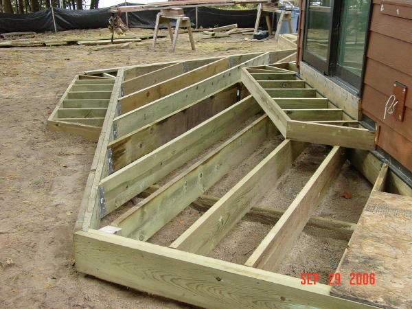 September pictures for How to build box steps for a deck