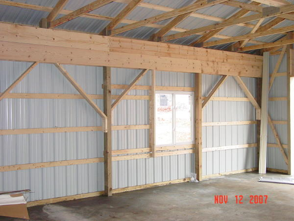Shed work january 2015 for Barn construction designs